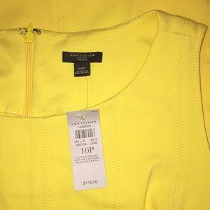 NWT Ann Taylor Dress Petite Sleeveless Work Yellow